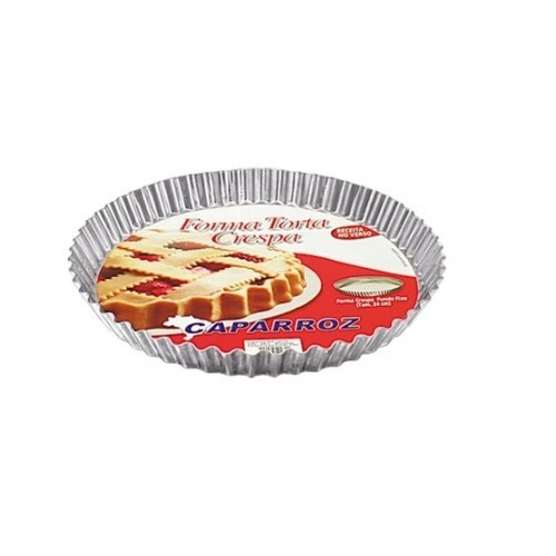 Forma Torta Crespa 13cm Alumínio - Caparroz