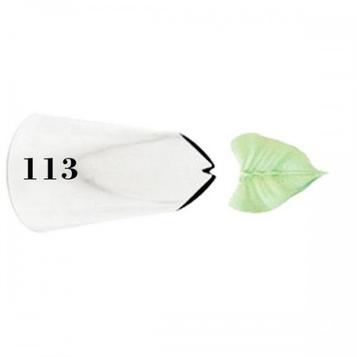 Bico de Confeitar Folha Grande Mod 113 - Wilton