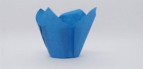 Forma Tulipa Azul C/25Un - Ecopack