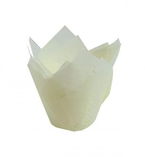 Forma Tulipa Branca C/25Un - Ecopack