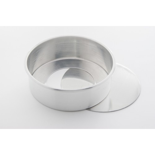 Forma Redonda C/ Fundo Falso 17 x 8cm Alumínio - Caparroz