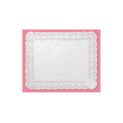 Toalha de Papel Rendada Branca 34 X 27Cm C/8Un - Mago