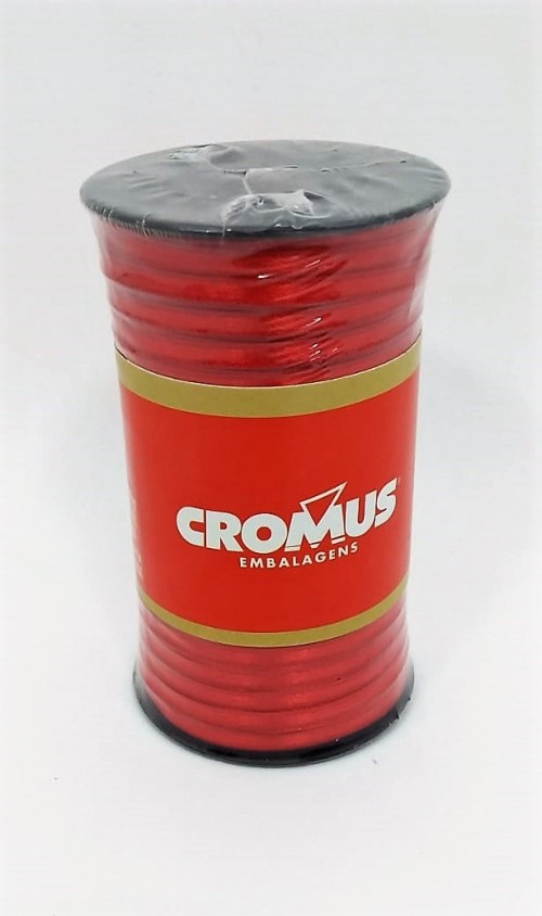 Fita de Cetim Nº0 Rubi 3,5cm x 100m - Cromus