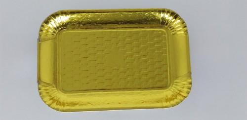 Bandeja Dourada Reta 24,5 x 15 cm - S Formas