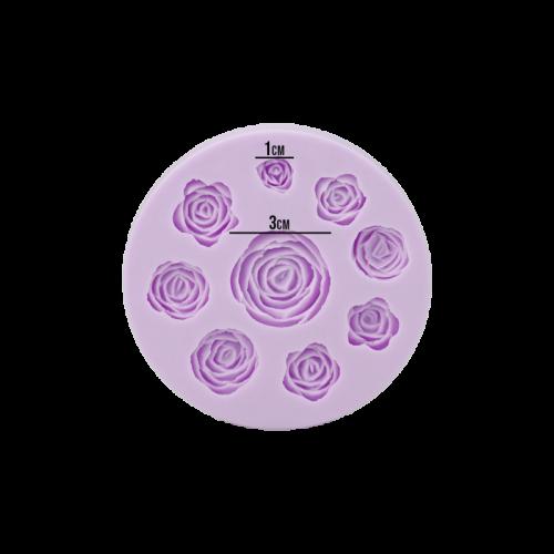 Molde em Silicone Rosas  - Prime Chef