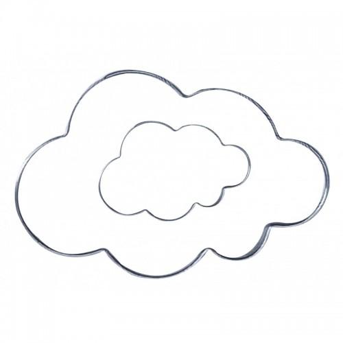 Cortador em Aço Inox Nuvens - Prime Chef