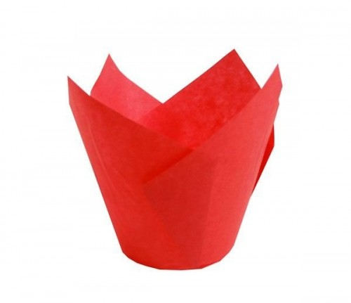 Forma Tulipa Vermelha C/25Un - Ecopack