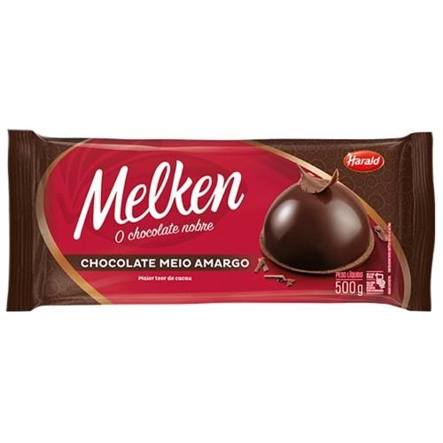 Barra Chocolate Meio Amargo Melken 500g - Harald