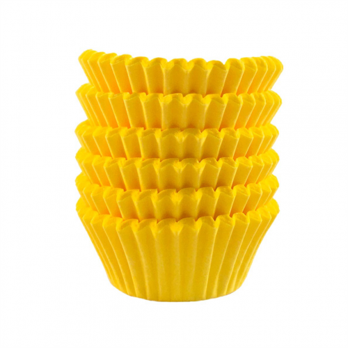Forminha Pap. Lisa Nº5 Amarela C/100Un - Flopel
