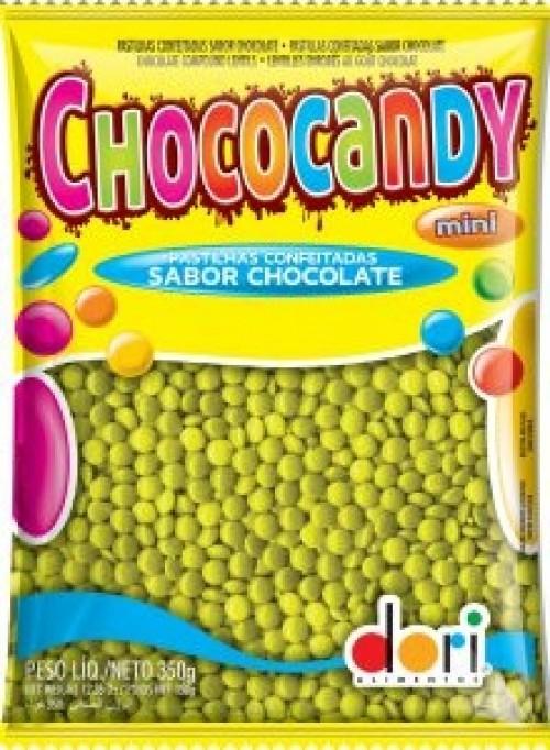 Chococandy Pastilhas Confeitadas Amarela Sabor Chocolate 350g - Dori