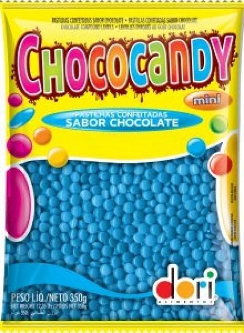 Chococandy Pastilhas Confeitadas Azul Sabor Chocolate 350g - Dori