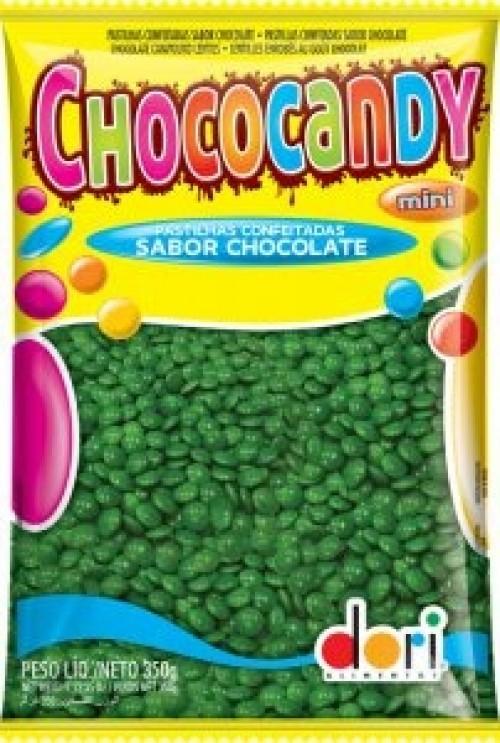 Chococandy Pastilhas Confeitadas Verde Sabor Chocolate 350g - Dori