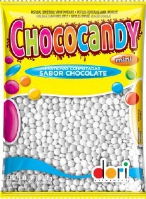 Chococandy Pastilhas Confeitadas Branca Sabor Chocolate 350g - Dori
