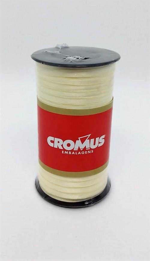 Fita de Cetim Nº0 Pérola 3,5cm x 100m - Cromus