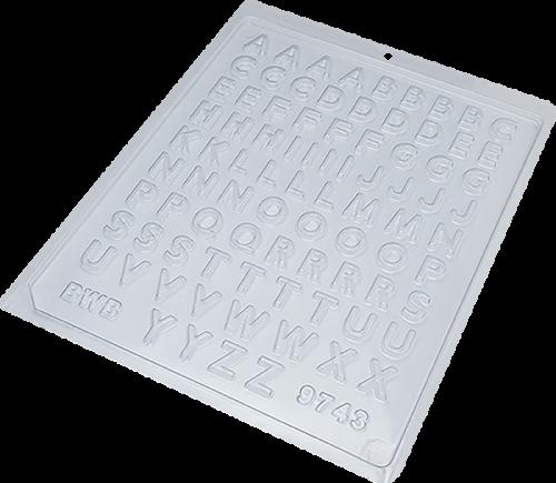 Forma Simples de Acetato Mini Alfabeto - BWB