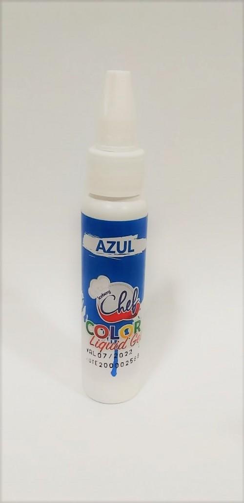 Corante Liquid Gel Azul 25g - Iceberg Chef