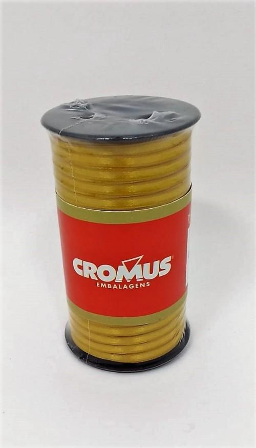 Fita de Cetim Nº0 Ouro 3,5cm x 100m - Cromus