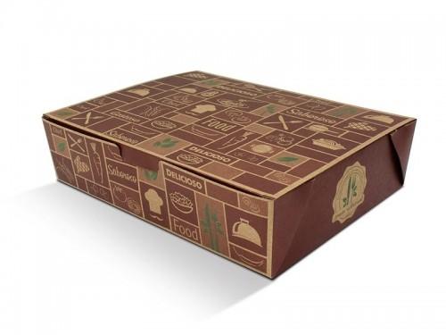 Caixa Box Antivazamento P/ Comida 16 x 11 x 6cm Kraft C/ 10Un - S Formas