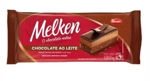 Barra Chocolate ao Leite Melken 1,050Kg - Harald