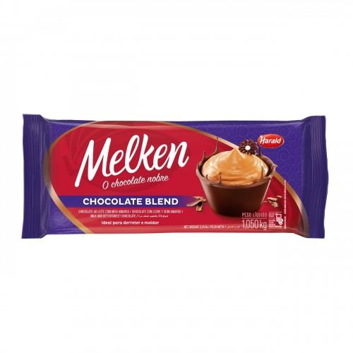Barra Melken Chocolate Blend ao Leite com Meio Amargo 1,050kg - Harald
