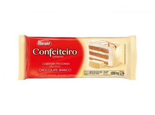Barra Cobertura Fracionada Confeiteiro Sabor Artificial Chocolate Branco1,050kg - Harald