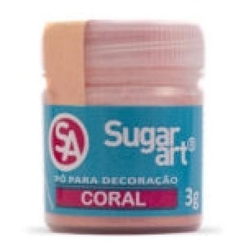 Pó para Decoração Coral 3g - Sugarart