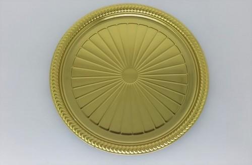 Prato Redondo Metalizado Dourado 27Cm - Neoform