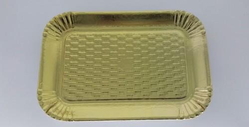 Bandeja Dourada Reta 32 x 22 cm - S Formas