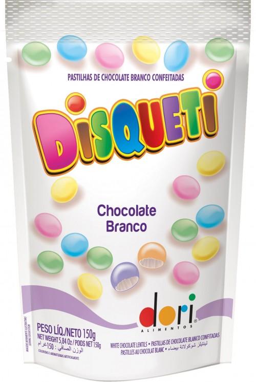 Disqueti Pouch Chocolate Branco 150g - Dori