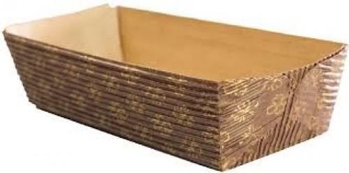 Forma Italiana para Bolo Inglês C/10Un Marrom com Dourado - Ecopack