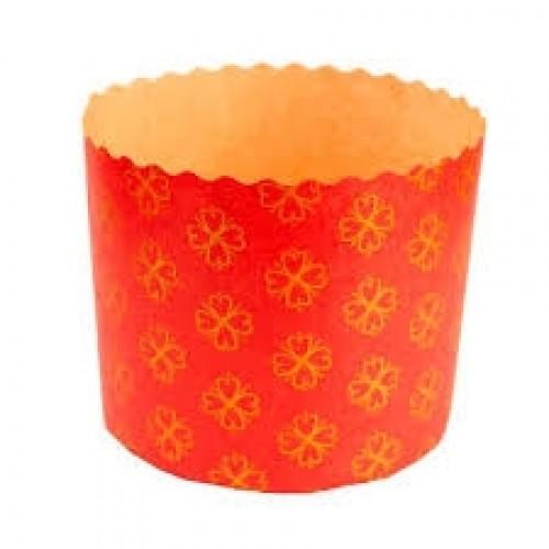 Forma de Panetone Vermelho 500g C/12Und - Ecopack