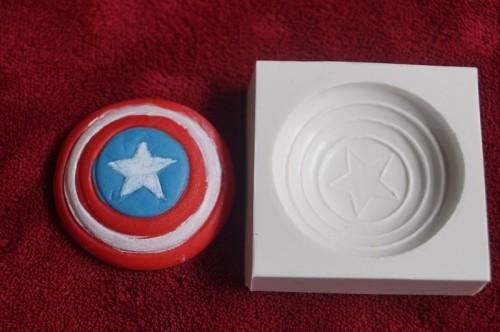 Molde em Silicone Capitão America - Gummies