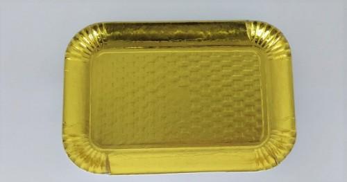 Bandeja Dourada Reta 28,5 x 20 cm - S Formas