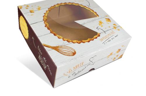 Caixa Para Torta Neutra 21x21x7Cm C/ 10Un - S Formas