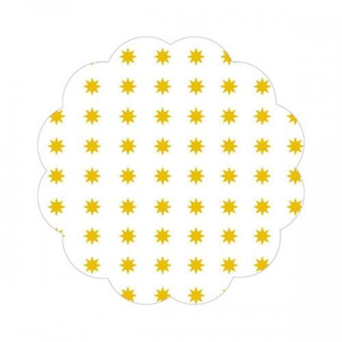 Fundo P/ Docinhos Asterisco Amarelo Nº7 C/100 Un - Curifest