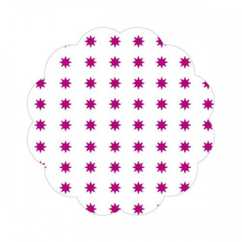Fundo P/ Docinhos Asterisco Pink Nº7 C/100 Un - Curifest