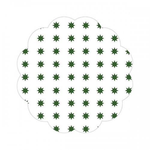 Fundo P/ Docinhos Asterisco Verde Escuro Nº7 C/100 Un - Curifest