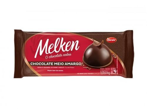 Barra Melken Chocolate Meio Amargo 1,050kg - Harald