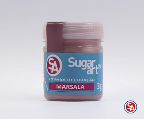 Pó para Decoração Marsala 3g - Sugarart