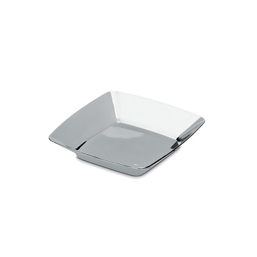 Mini Prato Boleador c/ 12 Peças - Silver Plastic
