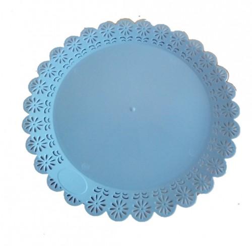 Bandeja Rendada Redonda 23cm Azul Claro - LSCT