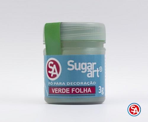 Pó para Decoração Verde Folha 3g - Sugarart