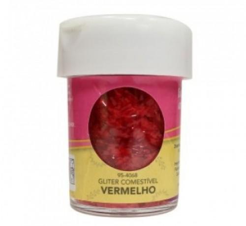 Gliter Comestível Vermelho 7,08g - Celebrate