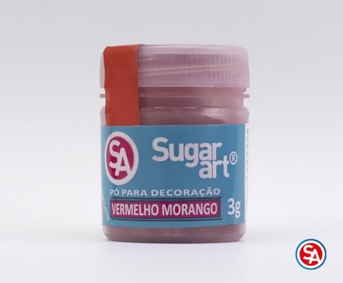 Pó para Decoração Vermelho Morango 3g - Sugarart
